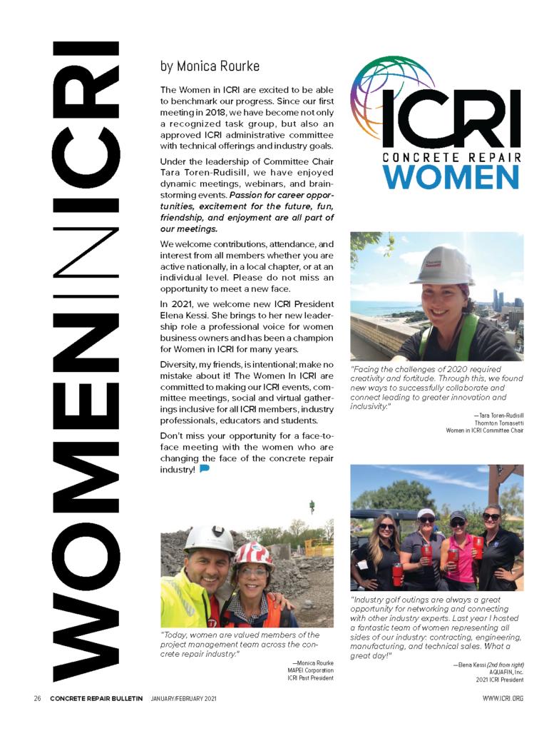ICRI Concrete Repair Women